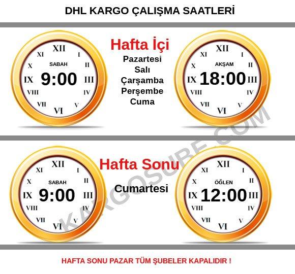 DHL Kargo Çalışma Saatleri