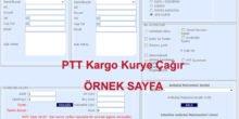 PTT Kargo Kurye Çağır